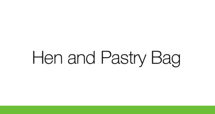 Hen and Pastry Bag, Patrick Daly, Poet 2016