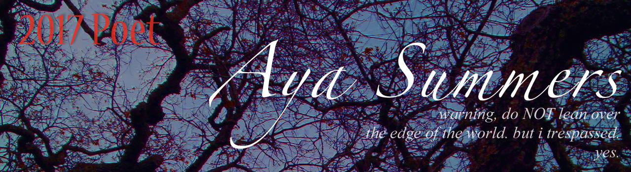 Aya Summers, 2017 Poet