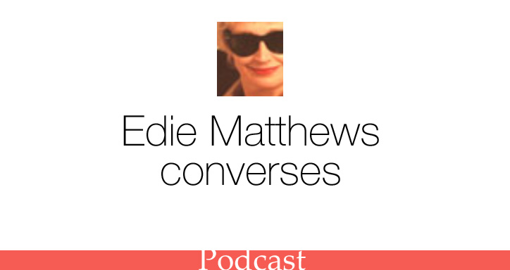 Edie Mathews converses with SHR