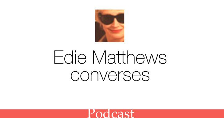 Edie Mathews converses with SHR
